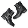 Ankle Boots da donna con borchie bata, nero, 591-6163 - 19