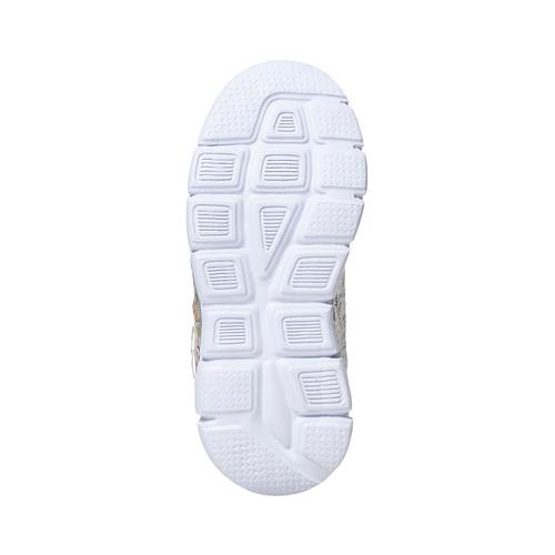 Sneakers da bambina con pizzo e stampa, bianco, 229-1188 - 26