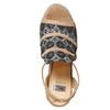 Sandali da donna con plateau e lacci bata, grigio, 769-2574 - 19