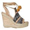 Sandali da donna con plateau e lacci bata, grigio, 769-2574 - 15