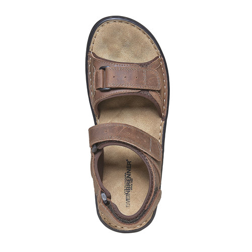 Sandali marroni in pelle weinbrenner, marrone, 866-4269 - 19