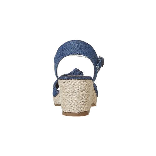 Sandali da bambina con plateau basso mini-b, blu, 369-9219 - 17