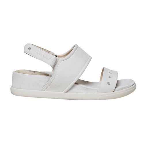 Sandali da donna con suola appariscente bata, beige, 569-8303 - 15