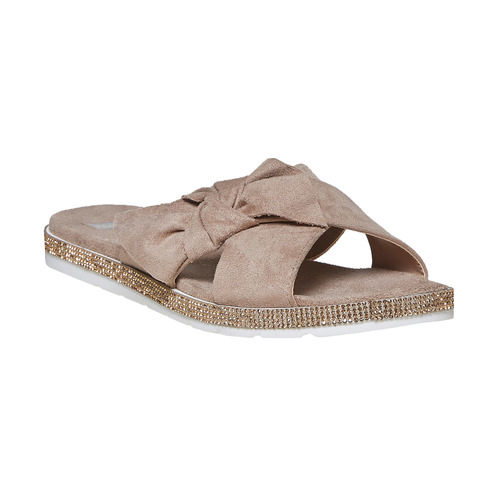 Slip-on marroni da donna bata, grigio, 569-2413 - 13