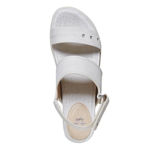 Sandali da donna con suola appariscente bata, beige, 569-8303 - 19