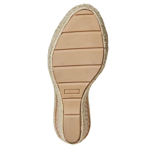 Sandali da donna con plateau e lacci bata, grigio, 769-2574 - 26