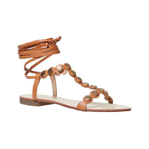Sandali da donna con lacci, marrone, 561-3496 - 13