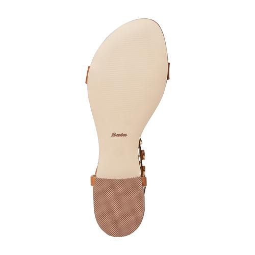 Sandali da donna con lacci, marrone, 561-3496 - 26