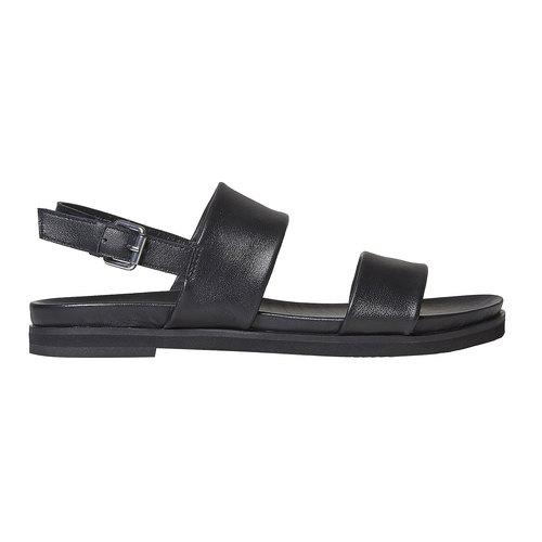 Sandali da donna in pelle bata, nero, 564-6446 - 15