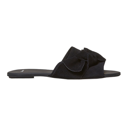 Slip-on in pelle nera bata, nero, 563-6411 - 15