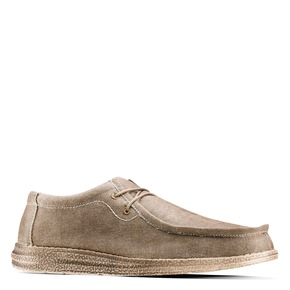Stringate in canvas bata, beige, 859-2280 - 13