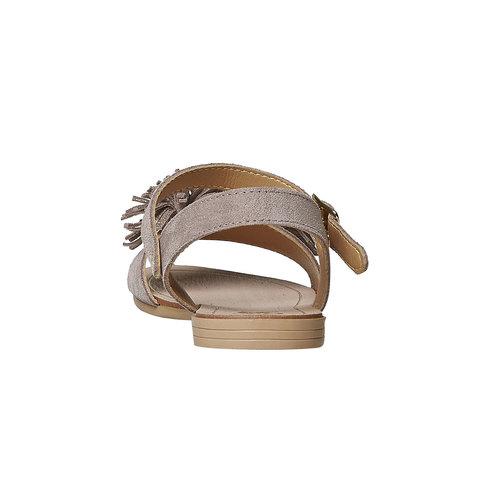 Sandali in pelle da bambina mini-b, beige, 363-3224 - 17
