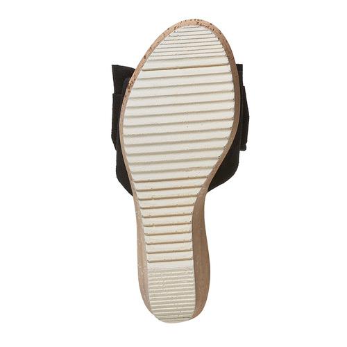 Slip-on in pelle con plateau in sughero bata, nero, 763-6234 - 26