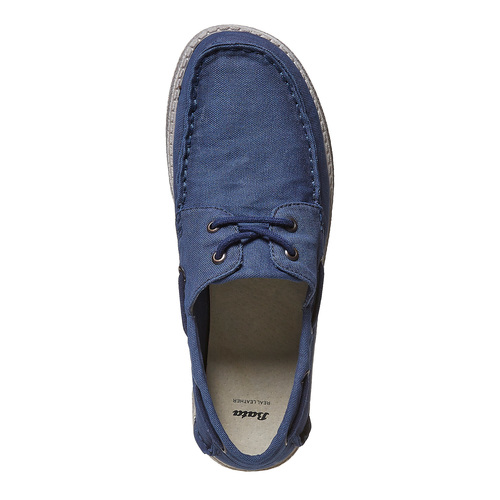 Mocassini blu da uomo bata, blu, 859-9283 - 19