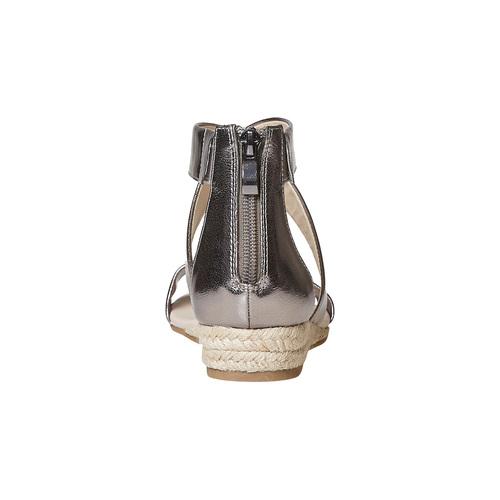 Sandali da donna con zeppa bassa bata, argento, 561-1505 - 17