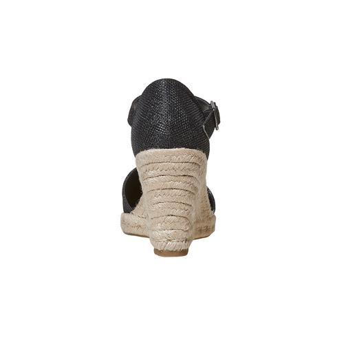 Décolleté da donna con plateau naturale bata, nero, 769-6685 - 17