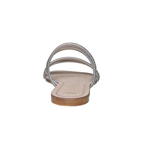 Slip-on da donna con strass bata, bianco, 571-1353 - 17