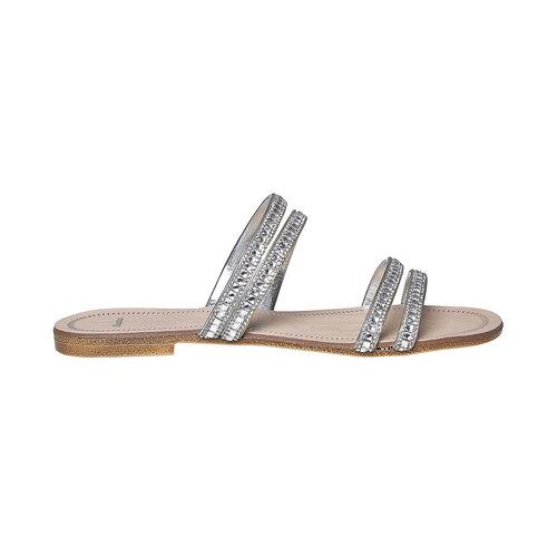 Slip-on da donna con strass bata, bianco, 571-1353 - 15