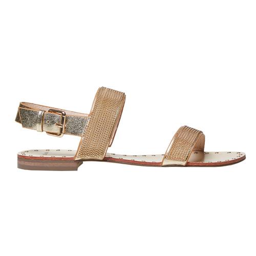 Sandali dorati da donna bata, marrone, 561-3501 - 26
