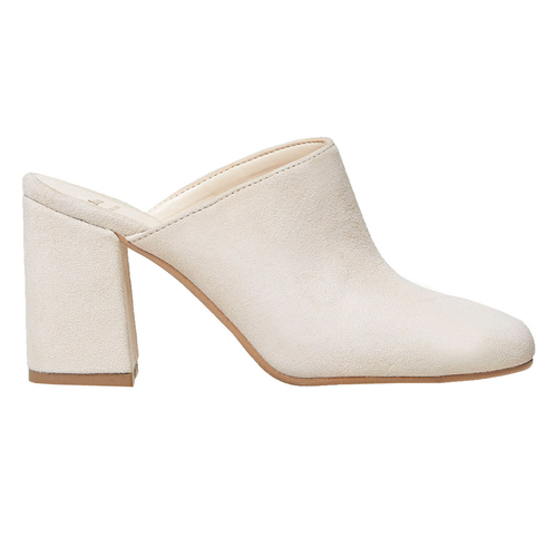 Slip-on in pelle da donna bata, beige, 763-8689 - 26