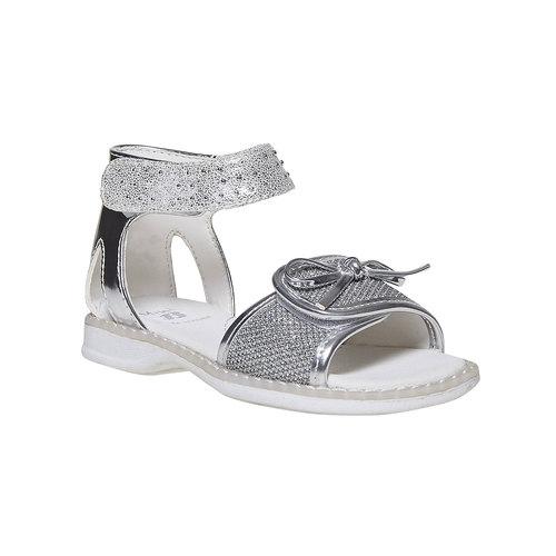 Sandali argentati da ragazza mini-b, grigio, 261-2177 - 13