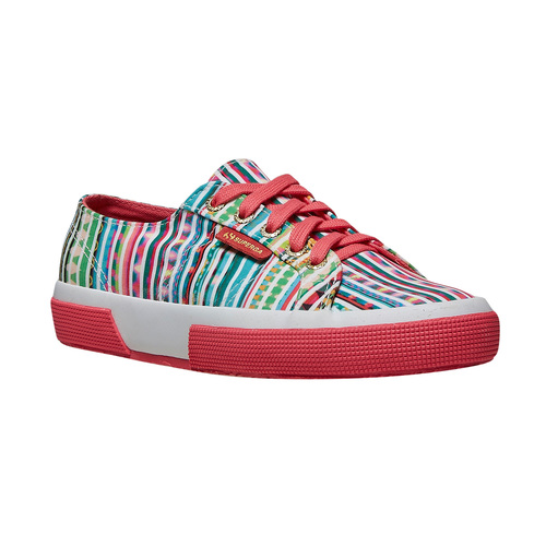 Sneakers con motivo colorato superga, verde, 589-7191 - 13