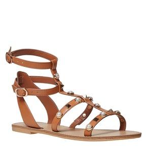 Sandali marroni da donna bata, marrone, 561-3358 - 13