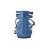 Sandali blu da donna con traforature bata, blu, 569-9410 - 16