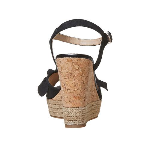 Sandali da donna con plateau naturale bata, nero, 769-6211 - 17