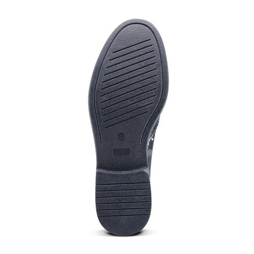 Scarpe basse stringate blu bata, blu, 521-9657 - 17