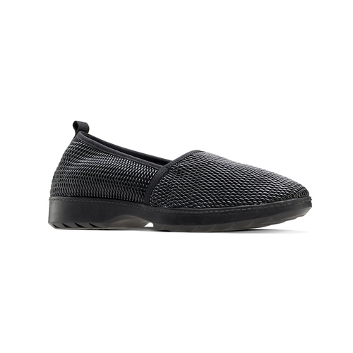 Mocassini slip-on flexible, nero, 511-6125 - 13