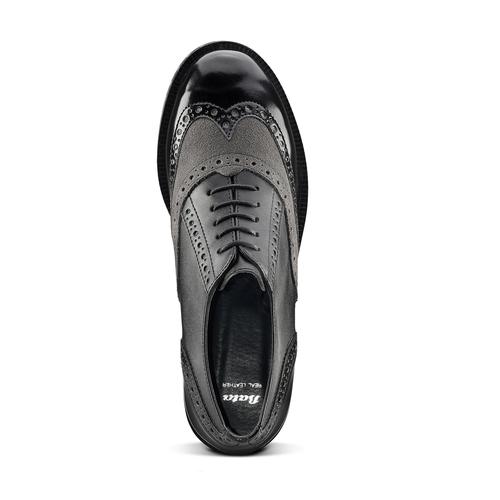 Scarpe stringate bicolore bata, nero, 521-6673 - 15