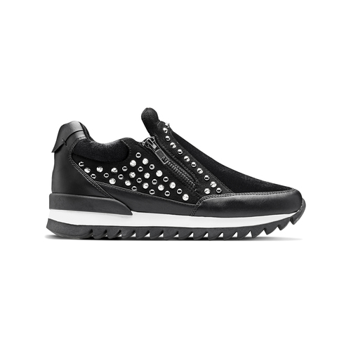 Sneakers nere con strass north-star, nero, 549-6294 - 26