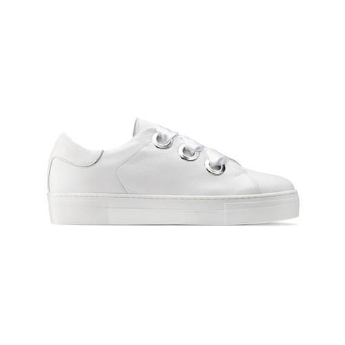 Sneakers bianche con lacci in raso north-star, bianco, 544-1359 - 26