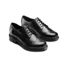Derby in pelle con trafori Brogue bata, nero, 524-6648 - 16