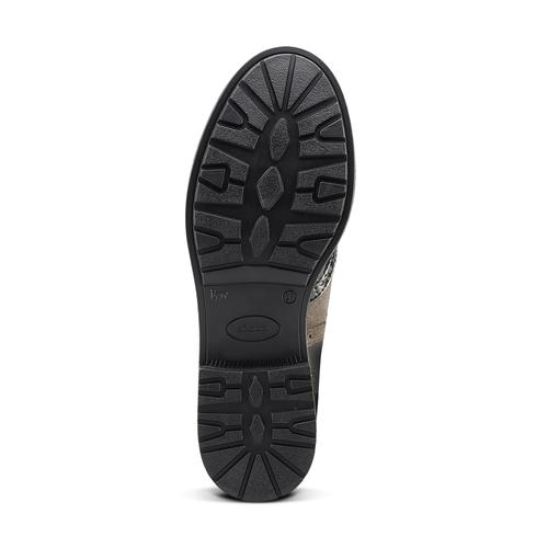 Scarpe stringate bicolore bata, nero, 521-6673 - 17