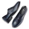 Stringate blu con lacci in raso bata, blu, 524-9664 - 19