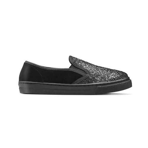 Sneakers glitter, nero, 329-6312 - 26