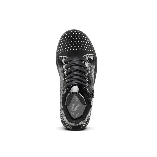 Sneakers alte con strass mini-b, nero, 229-6204 - 15