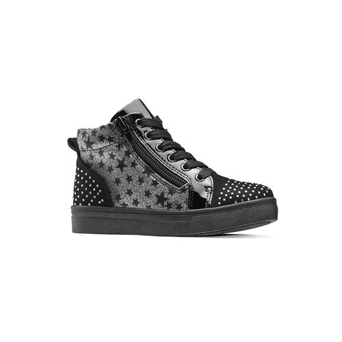 Sneakers alte con strass mini-b, nero, 229-6204 - 13