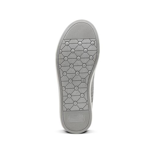 Sneakers alte con zip mini-b, grigio, 329-2303 - 17