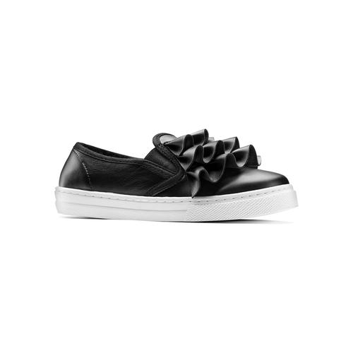 Sneakers bimba dettaglio rouches north-star, nero, 321-6142 - 13