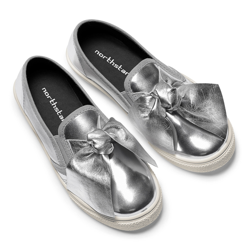 Slip-on silver con fiocco north-star, bianco, 321-1311 - 19