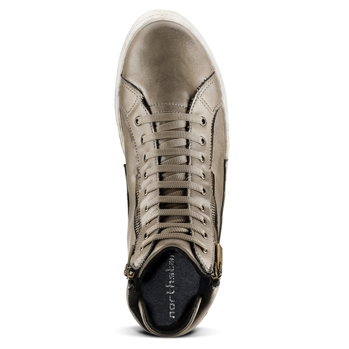 Sneakers stivaletto north-star, beige, 841-2503 - 15