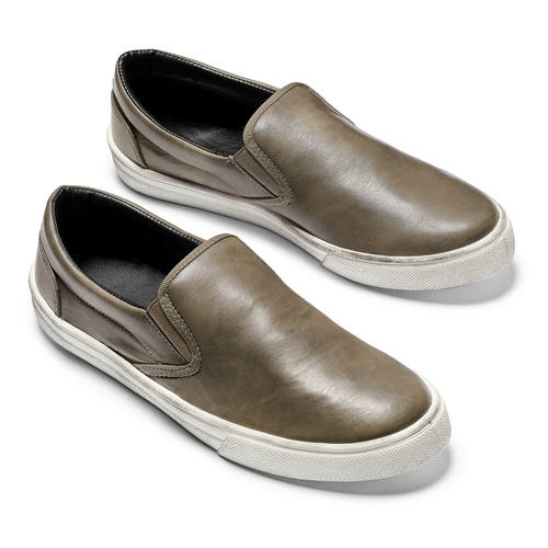 Slip-on uomo north-star, marrone, 831-2111 - 19