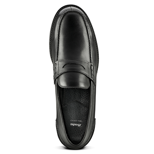 Penny loafer in pelle bata, nero, 814-6128 - 15