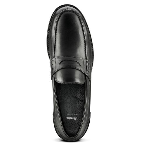Penny loafer in pelle bata, nero, 814-6128 - 15