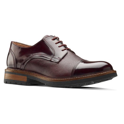 Scarpe stringate bordeaux bata-the-shoemaker, rosso, 824-5187 - 13