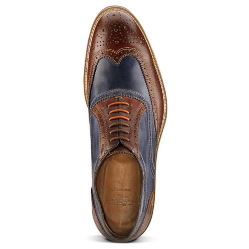 Stringate Oxford di pelle bata-the-shoemaker, marrone, 824-5215 - 15