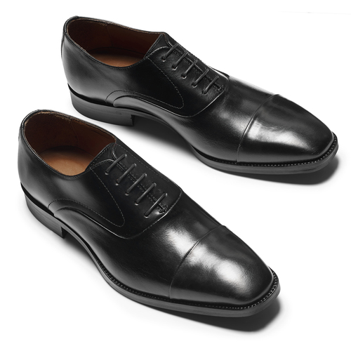 Scarpe Derby in vera pelle bata-the-shoemaker, nero, 824-6178 - 19